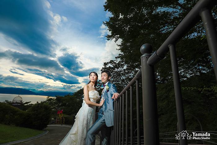 諏訪湖結婚前撮り