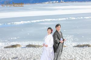 御神渡り諏訪市結婚写真